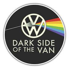 Lado oscuro de la furgoneta Camper Adhesivo para divisiones, Bay Ventana T4 T5 85mm X 85mm
