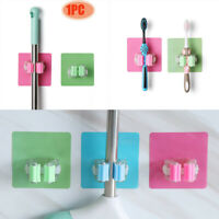 No Punching Wall Hook Sticky Home Clip Mop Holder Bathroom Rack Strong Adhesive