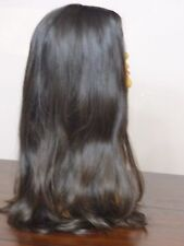 XL STRAIGHT W/ WAVE VIRGIN UNPROCESSED EUROPEAN HUMAN HAIR WIG DARK BROWN #2/4