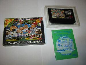 Best Play Pro Yakyuu Baseball Special Famicom NES Japan import boxed US Seller