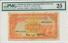 Standard Bank of SA Ltd. Southwest Africa  1 Pound 1959  PMG  25