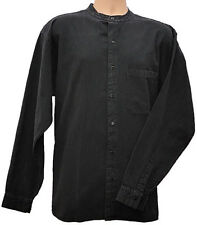 Grandad Shirts Kaboo Original Half Button 100% Cotton in Black + 9 other colours