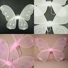 Large Glitter Fairy Angel Wings Pink White Glitter Women Hen Night Fancy Dress