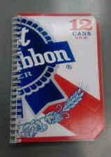 """Pabst Blue Ribbon Beer Wire Bound Journal / Blank Book / Sketch Pad (8x5"""") PBR"""