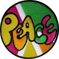 Peace Patch Embroidered Badge Embroidery Applique Iron Sew On Hippie Fancy Dress