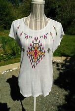 Top t-shirt graphique en lin *Zara Trafaluc* taille S - neuf