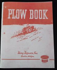 Harry Ferguson TO-20 30 Plow Book 3pt Hitch Tractor Moldboard Plowing Manual
