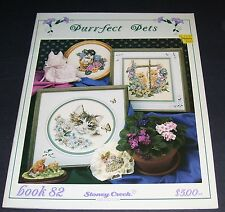 STONEY CREEK COUNTED CROSS STITCH BOOK #82 PURR-FECT PETS CATS