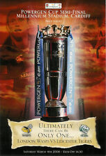 LONDON WASPS LEICESTER BATH LLANELLI POWERGEN CUP SEMI-FINALS 2006 RUGBY PROG