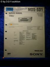 Sony Service Manual MDS SD1 Mini Disc Deck (#6064)