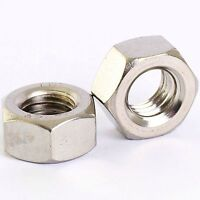 M10 X 1.25MM A2 STAINLESS STEEL FINE PITCH HEXAGON FULL NUTS HEX NUT 5 PACK