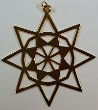 1979 Metropolitan Museum of Art Gold Surfaced Christmas Star Ornament