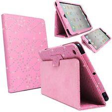 Funda para apple IPAD 2 3 4 Rosa Bling Diamante Purpurina PU Funda Piel