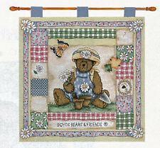 Boyds Bears Daisy Fields Tapestry Wall Hanging
