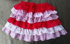 New H&M Multi fabric /tiered skirt-Girls3-4yrs,elasticated waist 100%cotton.