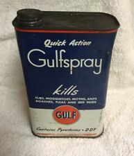 Vintage Gulf Spray Insect Killer By Gulf - Quart Size