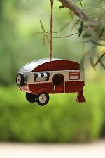 Alpine Corporation Sll1574 Hanging Camper Birdhouse, 6 Inch Tall, Red
