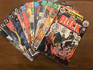 DC Comics SGT Rock 12 Comic Book Lot, All Are Kubert Covers 1974-1986