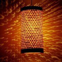 Bamboo Shade Pendant Light Fixture Ceiling Hanging Lamp Dining Room