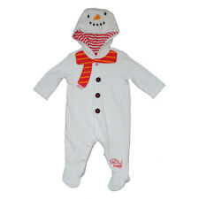 Baby Boy / Girl Snowman Velour Babygrow / Sleepsuit  Size up to 3 months