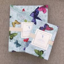 Pottery Barn Kids organic Adrian Butterfly duvet cover sham twin pink blue green