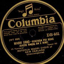 "ROTORUA MAORI CHOIR  ""Maori Songs""  Hinemoa Poi Song / Canoe Poi Song      S8101"