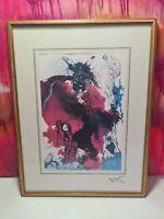Salvador Dali Kunstdruck in Glas Rahm 40x30cm