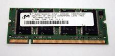 MODULO RAM SODIMM DDR MICRON 512MB 200pin PC2700s USATA OTTIMO STATO EL1 38255