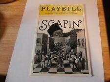 Playbill Program Scapin 1997 Roundabout Theatre Bill Irwin Kristen Chenoweth