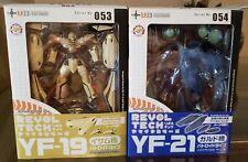 Kaiyodo Revoltech #53 & #54 Yamaguchi Macross Plus Valkyrie YF-19 And YF-21 MISB