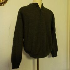 CABELAS Mens Large Tall WINDSTOPPER Green Wool Blend Lined Pullover wind stopper