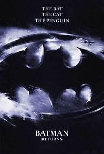 "BATMAN RETURNS Movie Poster [Licensed-NEW-USA] 27x40"" Theater Size Keaton,Devito"