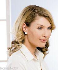 Wunderschöne Ohrringe beidseitig tragbar weiß o. grau mit Magnet ohne Ohrlöcher