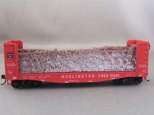Athearn - Burlington - 40' Pulp Wood Car w/Load + Wgt # 95126