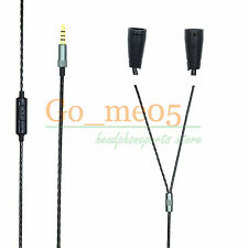 1.2M Copper upgrade Cable For Sennheiser IE8 IE80 with mic microphone remote 120