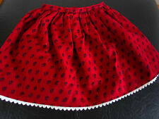 "Authentic American Girl 18"" Doll Josefina Red Meet Skirt w white lace trim"