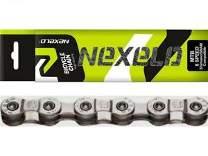 "NEXELO 1/2""x3/32"" Chain 8 Speed 116 Links Bicycle Bike MTB/Road"