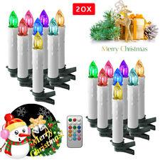 Baumkerzen 10er Kabellose LED RGB Weihnachtsbaumkerzen Lichterkette Party Bunt #