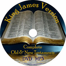 King James Version Audio Bible Christian KJV All 66 Books on 1 MP3 DVD Free Ship