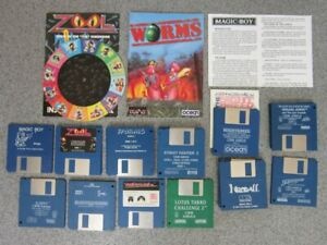 12 Commodore Amiga 500 Games Original Disk Only. Tested as far as