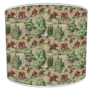 Hunting Scene Lampshades Ideal To Match Curtains & Drapes Bedding Duvet Cushion