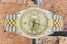 Gents Champagne Diamond Dial Steel & Yellow Gold Rolex Oyster Perpetual Datejust