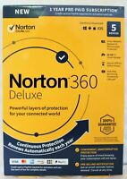 Norton Internet Security Deluxe 360 - Antivirus 5 Devices 1Yr US&CANADA PC Card
