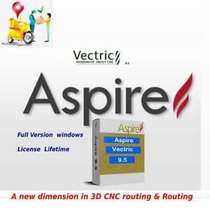 Vectric Aspire 9.5 | FULL Version . windows + LICENSE  +3D MODELS