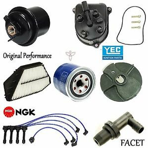 Tune Up Kit Filters PCV Cap Rotors Wires for Honda Accord DX; LX; 2.2L 1994-1996