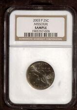2003 Statehood Quarter |  MIssouri 25 cents | NGC Sample Coin | Philadelphia