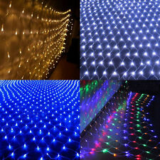 LED String Fairy Light Net Mesh Curtain Wedding Xmas Party Holiday Outdoor Decor