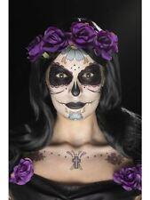 Day of the Dead Face Tattoo Transfers Kit Halloween Fancy Dress
