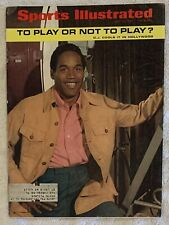 7.14.1969 OJ SIMPSON Sports Illustrated BUFFALO BILLS - KEN HARRELSON Print Ads