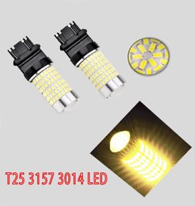 Parking Light 144 LED Bulb Amber CK T25 3157 3057 4157 B1 For Dodge Eagle A